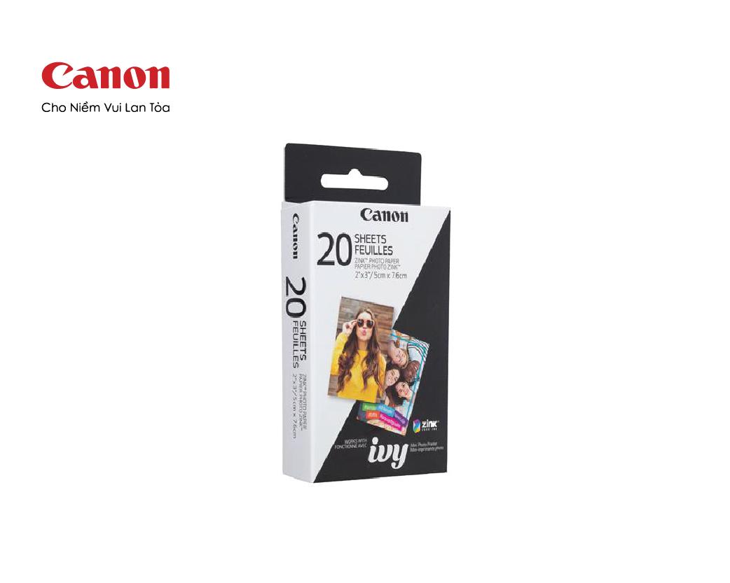 Giấy in ảnh Canon ZINK dùng cho máy in ảnh Canon PV-123 (20 tấm)