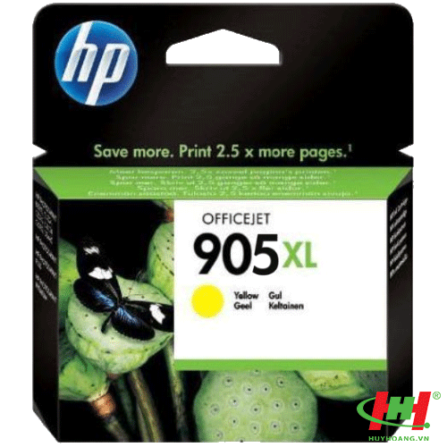 Mực in HP 905XL High Yield Yellow Original Ink Cartridge (T6M13AA)