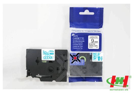 Băng nhãn Brother HZe-223 (dùng chung TZe-223,  TZ2-223) 9mm x 8m Chữ xanh trên nền trắng