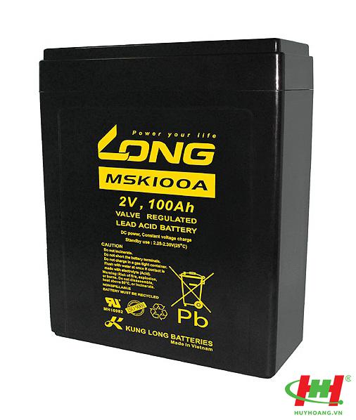 Bình ắc quy Long 2V-100Ah (MSK100A)