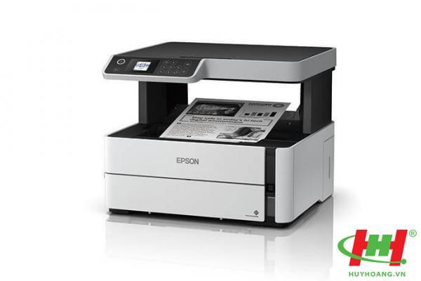 Máy in phun đen trắng đa năng Epson EcoTank M2140 (in 2 mặt,  scan,  copy)