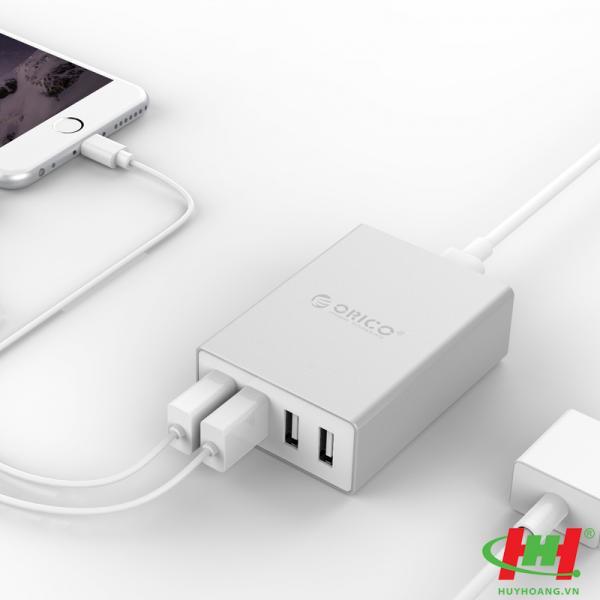 Sạc điện thoại USB 4 cổng 2.4A ORICO ASK-4U