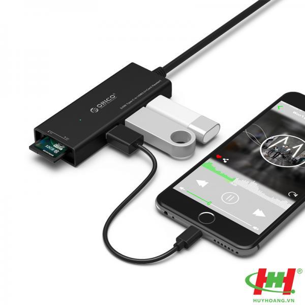 Bộ chia USB HUB 3 cổng USB 3.0 Type C ORICO CH3SF