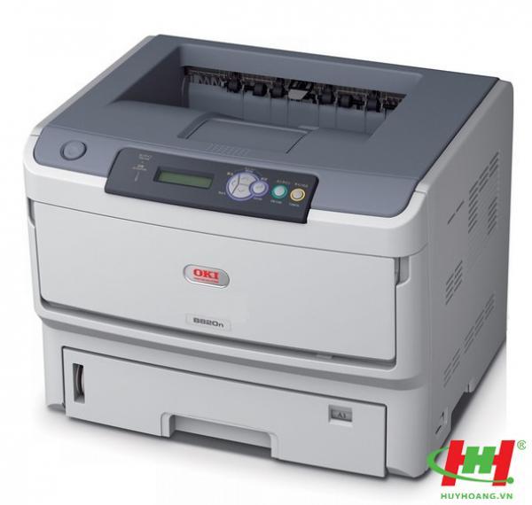 Máy in Laser OKI B820n (A3,  in qua mạng) in giấy A3 dày 64-200gsm
