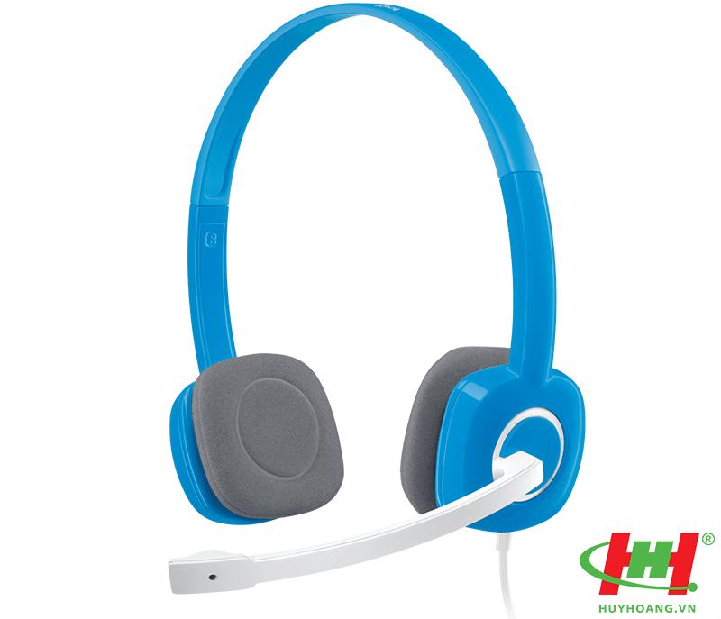 Tai nghe Logitech H150 Stereo Headset (xanh,  trắng)