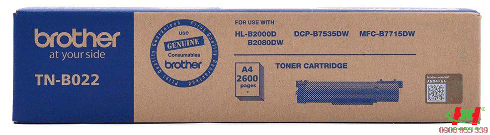 Mực máy in Brother HL-B2000 (TN-B022) Chính hãng
