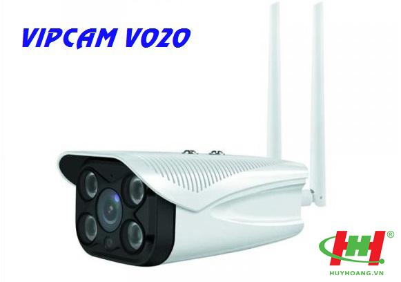 Camera IP Vipcam V020 | CAMERA WIFI Full HD 1080P - gắn ngoài trời,  đèn quan sát ngày và đêm (tặng kèm thẻ nhớ 32G)