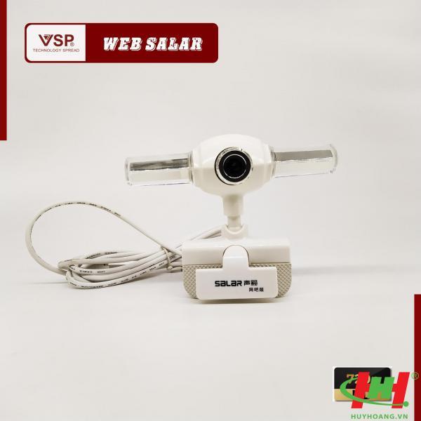 Webcam VSP Salar 720p HD / Kẹp  / Có Đèn