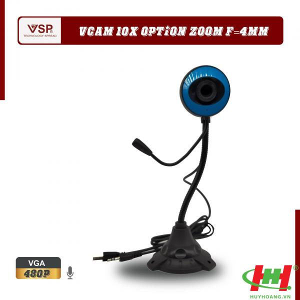 Webcam VSP 480p HD / Chân Cao Tròn / Có Mic